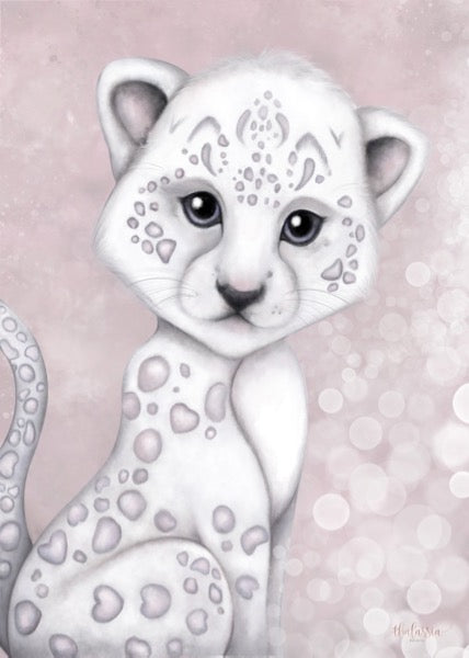 Isla Dream Prints Prince The Snow Leopard Print - Pink