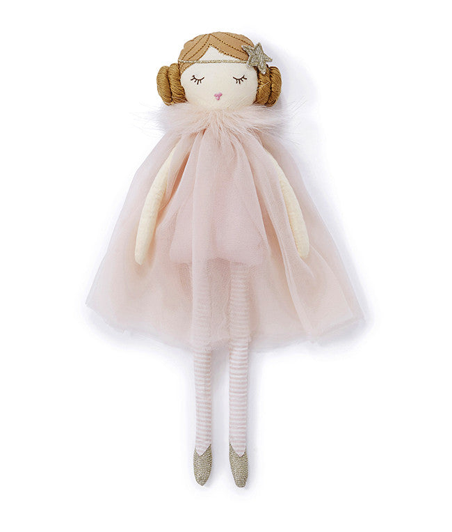 Miss Goldie Doll with pink dress