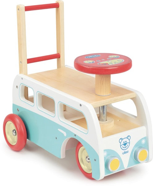 Vilac Retro Wooden Toy Combi Pusher & Ride On