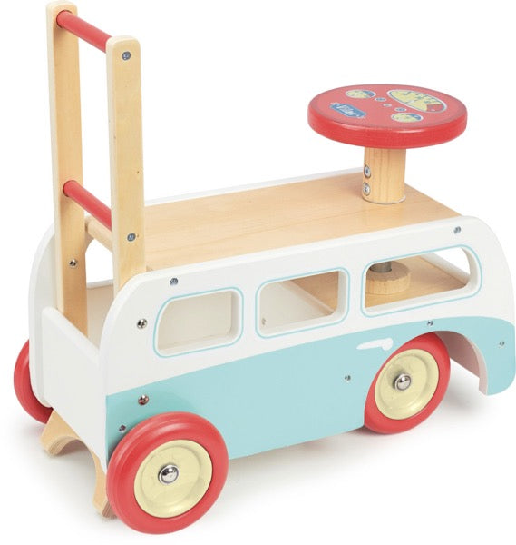 Vilac Retro Wooden Toy Baby Combi Pusher & Ride On