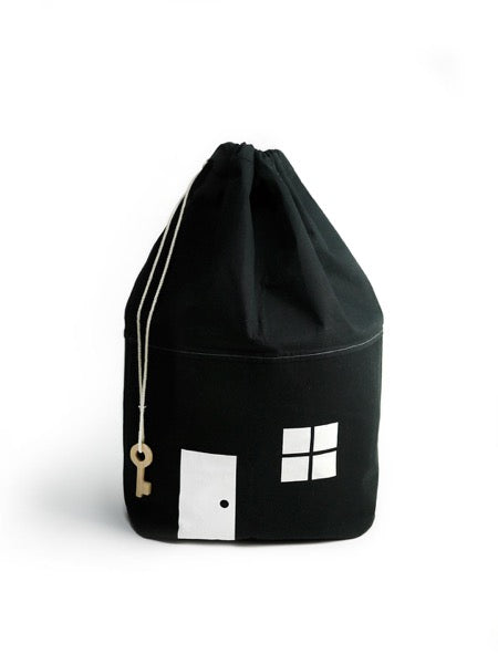 Black & white House No. 2 Organic Storage Bag
