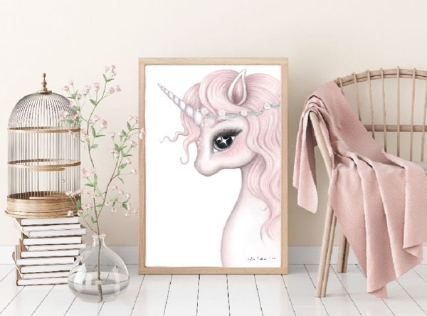 Isla Dream Prints Rosa Unicorn Print