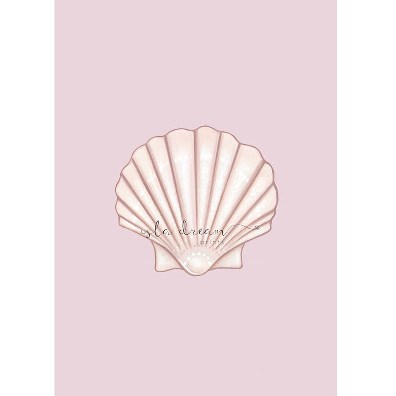 Isla Dream Prints Shell Print with pink background