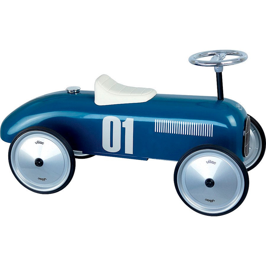 Vilac Shiny Blue Ride On Classic Toy Car