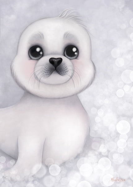 Isla Dream Prints Sid The Harp Seal Print