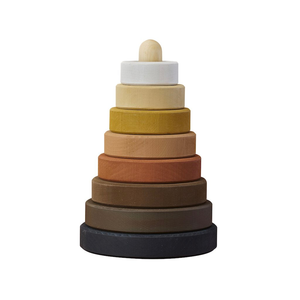 Raduga Grëz Skin Tones White & Black Stacking Tower