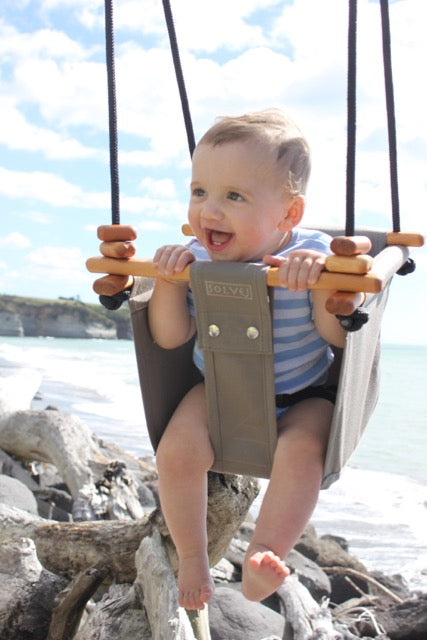 Classic Taupe Baby & Toddler Swing