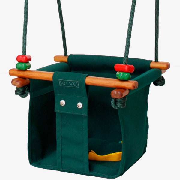Solvej Swings Baby & Toddler Swing - Forest Green