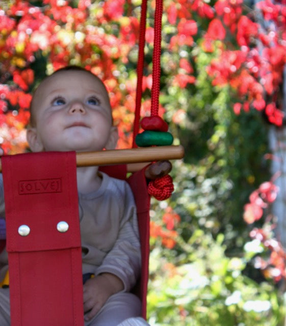 Pohutuka Red Baby & Toddler Swing
