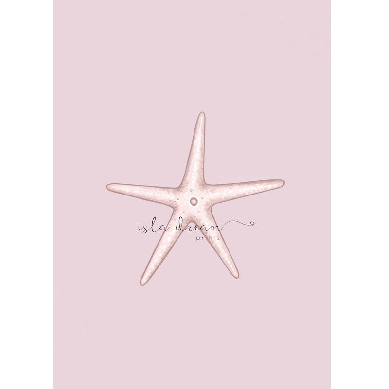 Isla Dream Prints Starfish Print with pink background