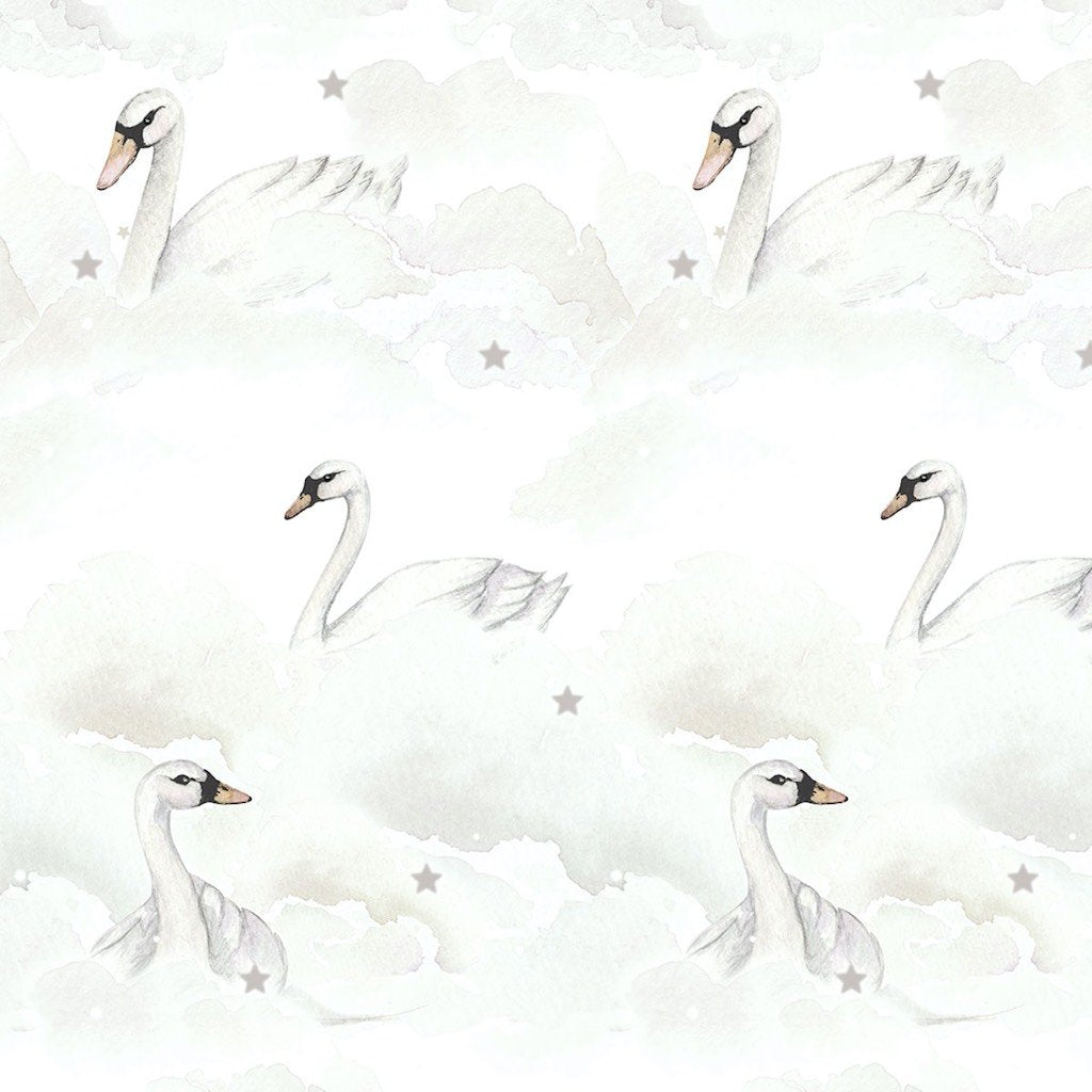 Dekornik Swans & Clouds Wallpaper