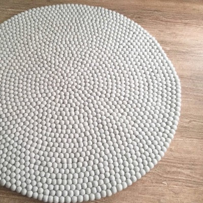 Winston & Grace Felt Ball Rug - The Grey Goose