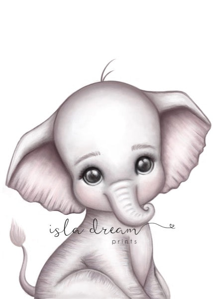 Isla Dream Prints Theodore The Elephant Print