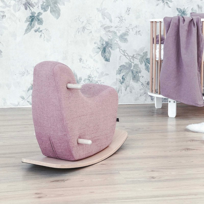 Ooh Noo Toddler Rocking Horse in Pale Pink