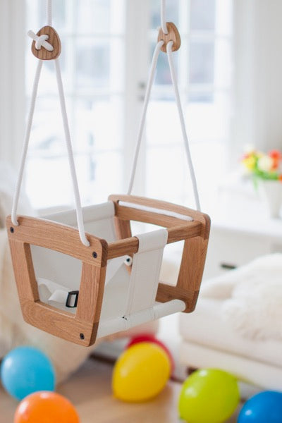Lillagunga Toddler Swing - Oak - Oliver Thomas Children's Boutique