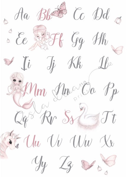 Isla Dream Prints Whimsical Alphabet Poster