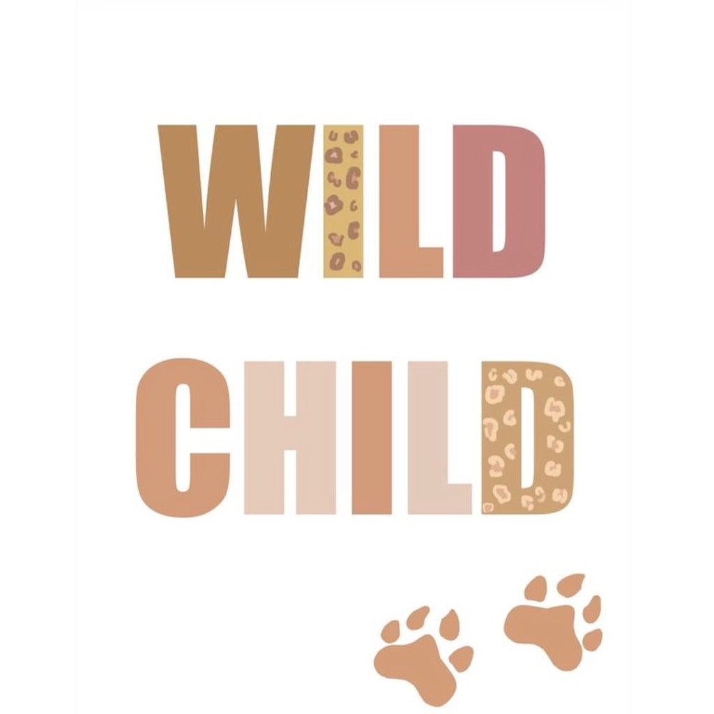 Isla Dream Prints Wild Child Jungle TypographyPrint