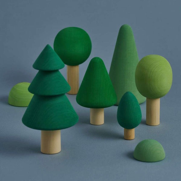 Wooden Green Forest Set