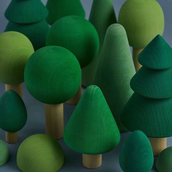 Wooden Green Play Forest Set