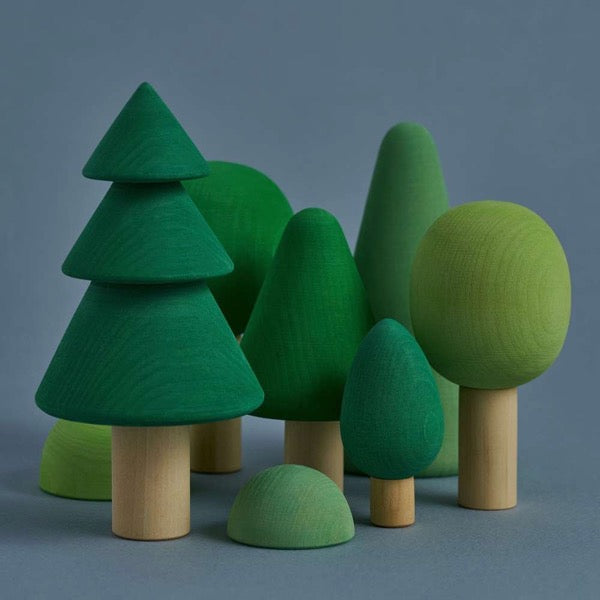 Green Wooden Forest Play Set