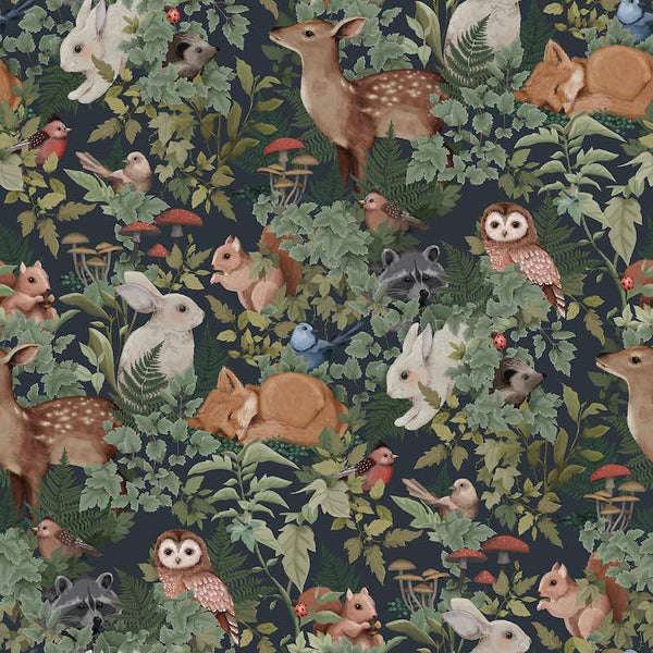Jimmy Cricket Woodlands Wallpaper - Charcoal - Oliver Thomas Children's Boutique