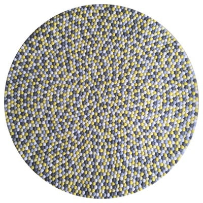 Winston & Grace Felt Ball Rug - Yellow Brick Road