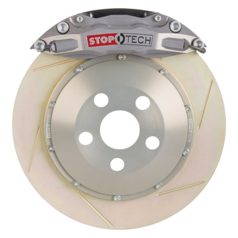 StopTech 97-01 Acura Integra Type R Front BBK ST-40 Trophy Anodized Calibers 328x28 Zinc Slotted Ro