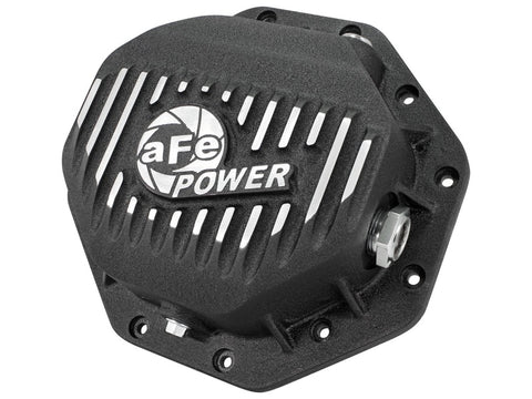 AFE Rear Differential Cover (Black Machined; Pro Series); Dodge/RAM 94-14 Corporate 9.25 (12-Bolt)