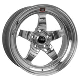 Weld S71 18x8 / 5x4.75 BP / 4.7in. BS Polished Wheel (Medium Pad) - Non-Beadlock
