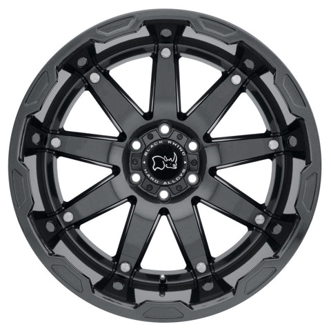 Black Rhino Oceano 20x9.5 6x139.7 ET12 CB 112.1 Gloss Gunblack w/Stainless Bolts Wheel