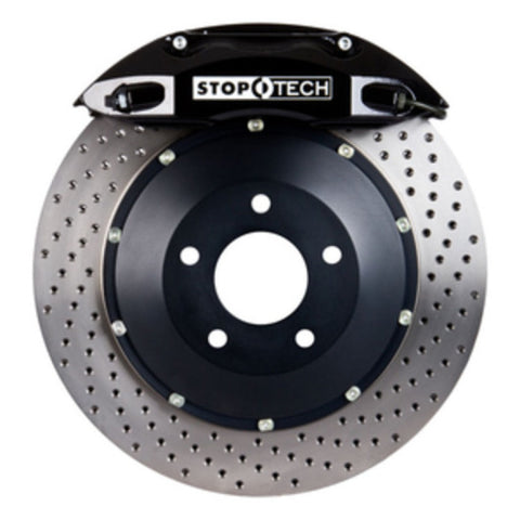 StopTech 91-05 Acura NSX Front BBK w/Black ST-40 Calipers Drilled 328x28mm Rotors