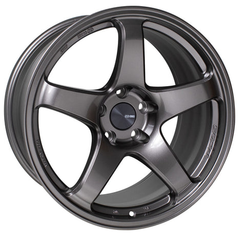 Enkei PF05 18x10 5x114.3 25mm Offset 75mm Bore Dark Silver Wheel