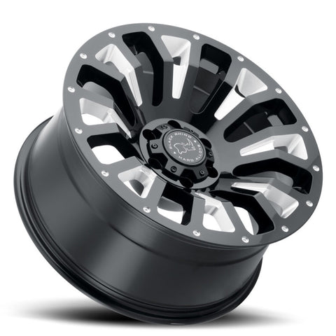 Black Rhino Pinatubo 20x9.5 6x139.7 ET06 CB 112.1 Gloss Black w/Milled Inside Window Wheel