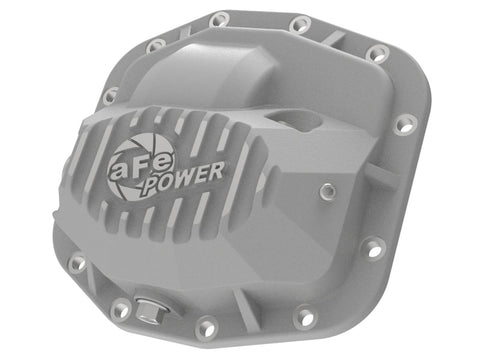aFe Street Series Front Differential Cover Raw 2018+ Jeep Wrangler (JL) V6 3.6L (Dana M186)