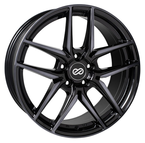 Enkei Icon 18x8 40mm Offset 5x108 72.6mm Bore Pearl Black Wheel