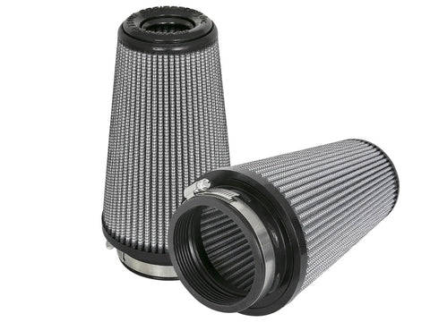aFe Magnum FLOW Pro DRY S Replacement Air Filter (Pair) F-3.5in. / B-5in. / T-3.5in. (Inv) / H-8in.