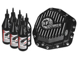 aFe Power Rear Diff Cover Black w/Machined Fins 17-19 Ford 6.7L (td) Dana M300-14 (Dually) w/ Oil