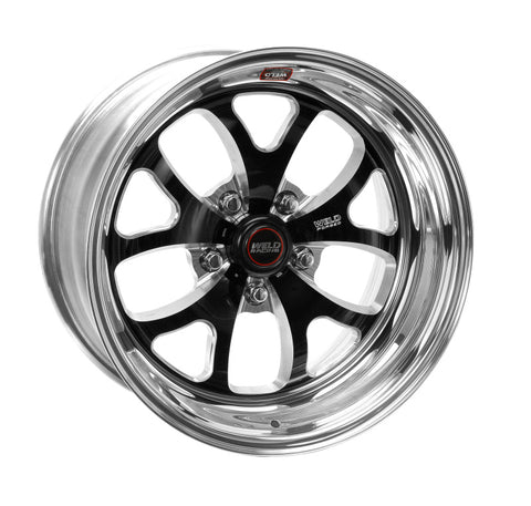 Weld S76 17x9 / 5x4.75 BP / 6.8in. BS Black Wheel (Medium Pad) - Non-Beadlock