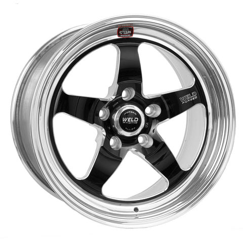 Weld S71 18x10.5 / 5x4.5 BP / 6.7in. BS Black Wheel (Medium Pad) - Non-Beadlock