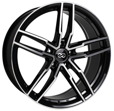 Enkei SS05 18x8.0 5x108 40mm Offset Black Machined Wheel
