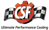 CSF Universal Half Radiator w/-16AN & Slip-On Fittings/12in SPAL Fan & Shroud