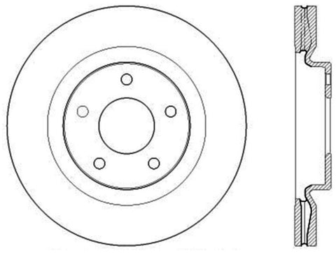 StopTech Sport Drilled & Slotted Rotor - Rear Right
