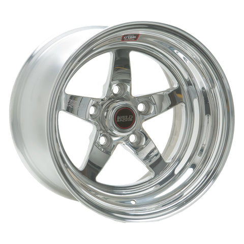 Weld S71 15x4 / 5x4.75 BP / 1.5in. BS Polished Wheel (Medium Pad) - Non-Beadlock
