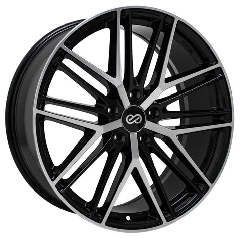 Enkei Phantom 19x8 5x114.3 35mm 72.6mm Bore Black Machined Wheel