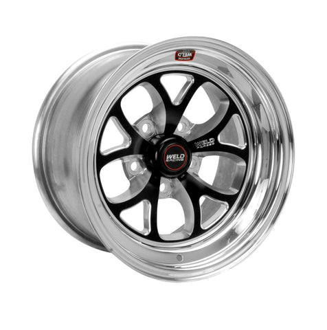 Weld S76 15x10.33 / 5x4.75 BP / 3.5in. BS Black Wheel (Medium Pad) - Non-Beadlock