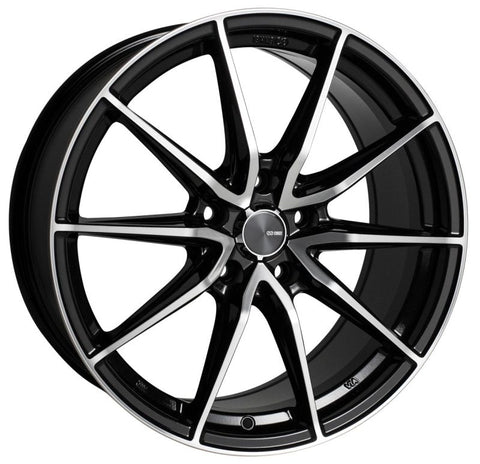 Enkei DRACO 18x8.0 5x114.3 35mm Offset 72.6mm Bore Black Machined Wheel