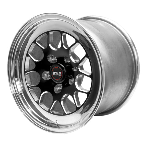 Weld S77 15x10.33 / 5x4.5 BP / 4.5in. BS Black Wheel (Medium Pad) - Non-Beadlock