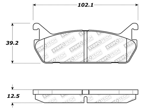 StopTech 91-96 Ford Escort / Mercury Tracer Street Select Rear Brake Pads