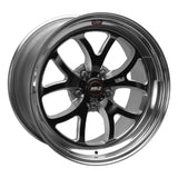Weld S76 18x9 / 5x4.75 BP / 5.1in. BS Black Wheel (High Pad) - Non-Beadlock