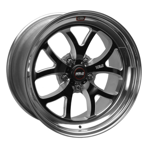 Weld S76 18x8.5 / 5x4.75 BP / 6.7in. BS Black Wheel (Medium Pad) - Non-Beadlock